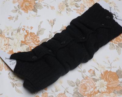 Womens knöpfen Design stricken Beinlinge eng 20 Paare / Los gemischt # 2358