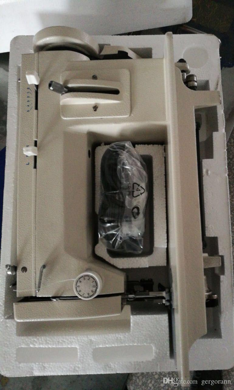Máquina multifuncional portátil de zigzag para el hogar y línea recta para material de cuero pesado Motor de 150 vatios con control electrónico de los pies