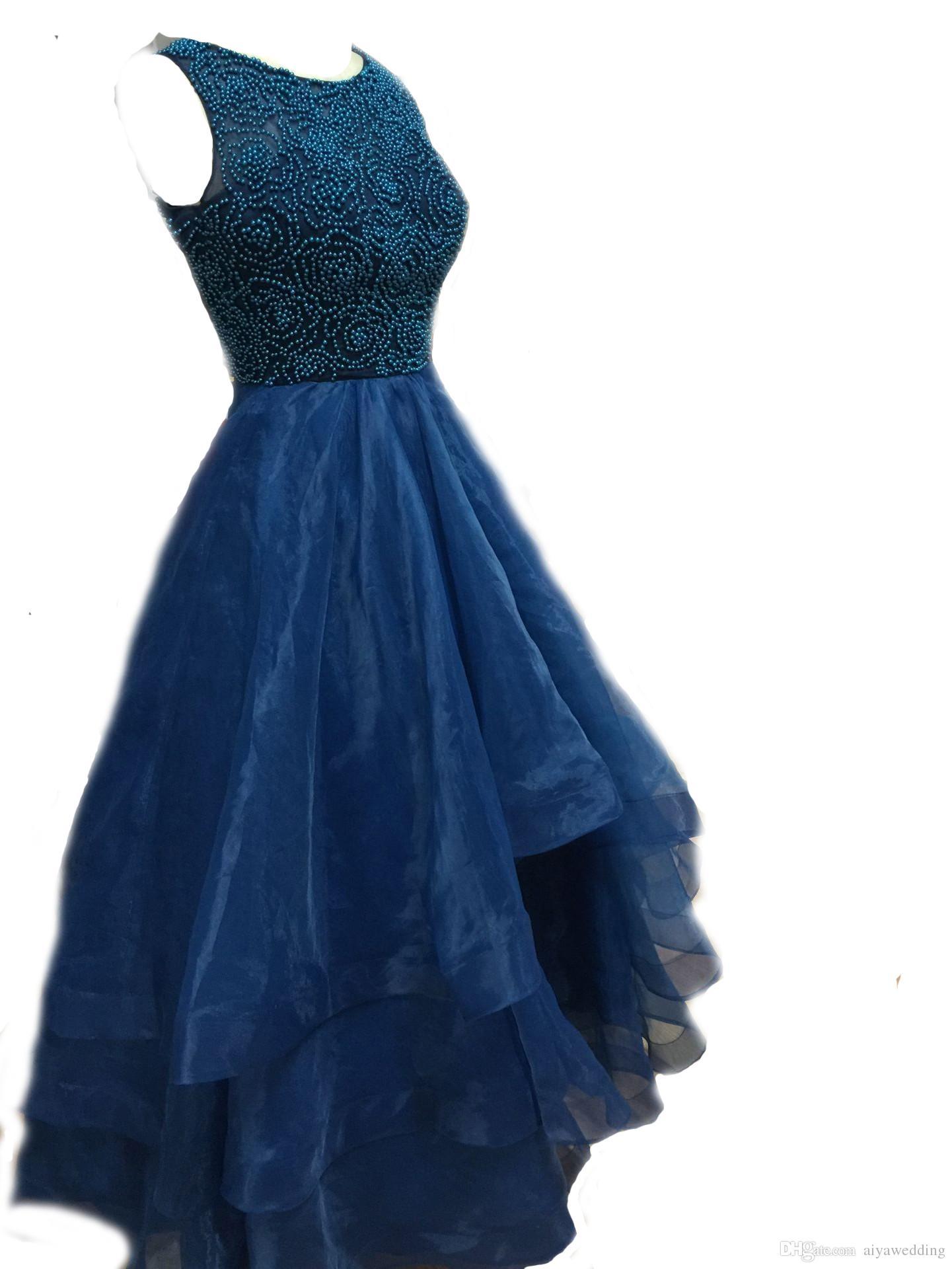 Lila Perlen Lange Ballkleider Eine Linie Organza Juwel Bodenlangen Reißverschluss Abgestuftes Langes Abendkleid Formelles Kleid