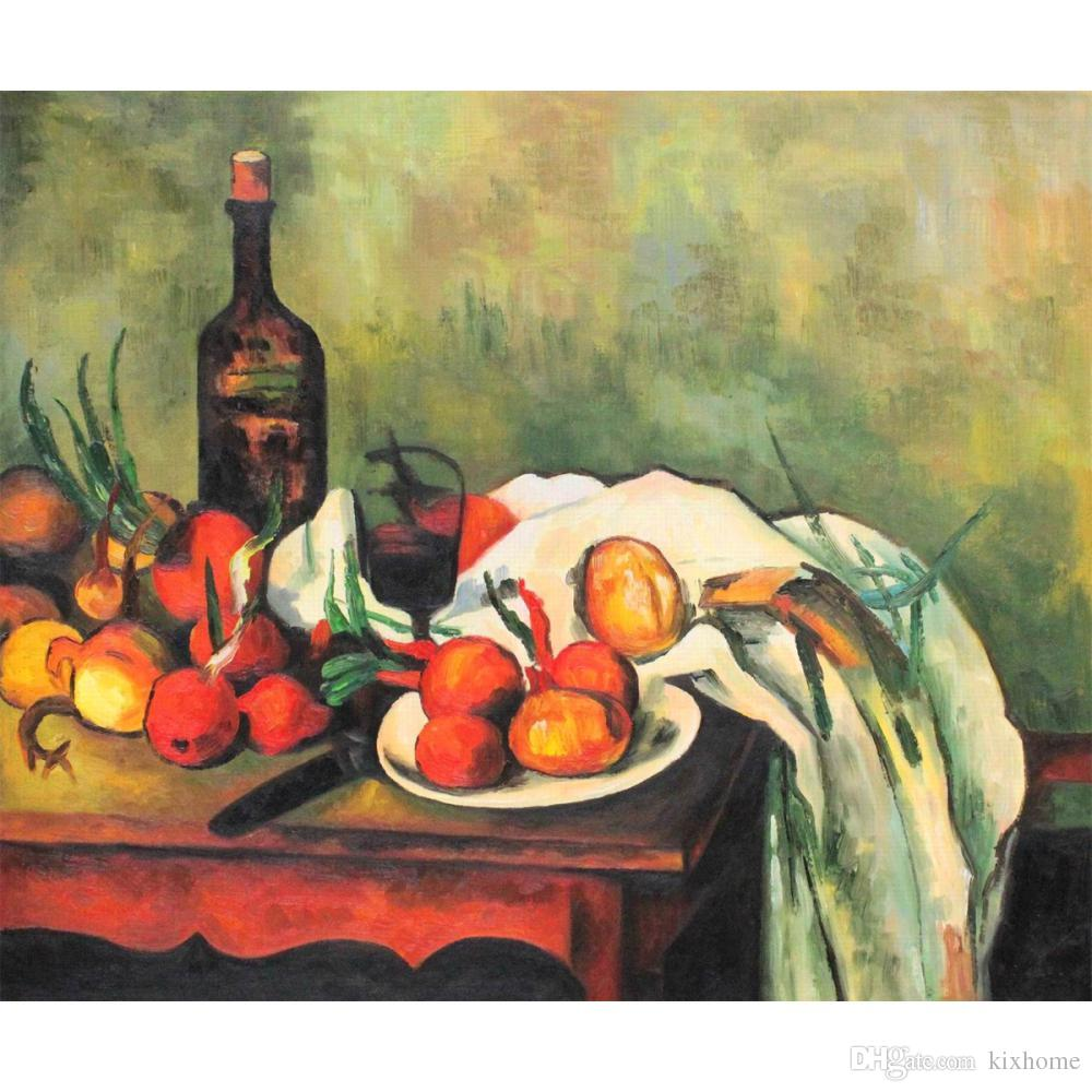 Fabelhaft Großhandel Handmade Ölgemälde Paul Cezanne Stillleben Mit Zwiebeln #DL_68