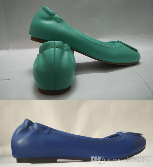 nouvelles femmes chaussures de sport en cuir d'agneau cuir ballet plat casual chaussures