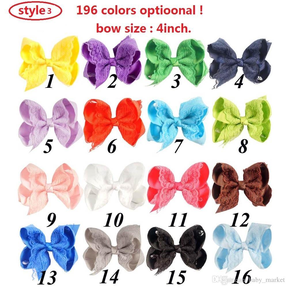 3 Style Disponible 4 '' Nouvelle design pour la soirée de danse à la main colorée des épingles à cheveux à la main avec des accessoires de cheveux ou des clips de cheveux de filles mignonnes douces