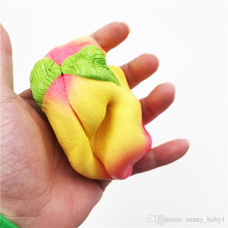 Hot New 5 Colours Colossal 10CM Squishy Pink/White/yellow PU Peach Slow Rising Cream Scented,Kids Adults Decompression Toys Christmas Gifts
