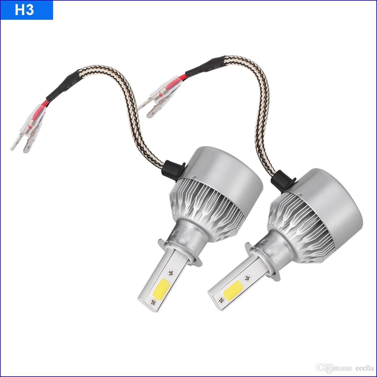 Super Bright 72W 7600LM Car LED Headlight H1 H3 H4 H7 H11 9005 9006 12V 24V Fog DRL Automobiles Headlamp Driving Head LAMP