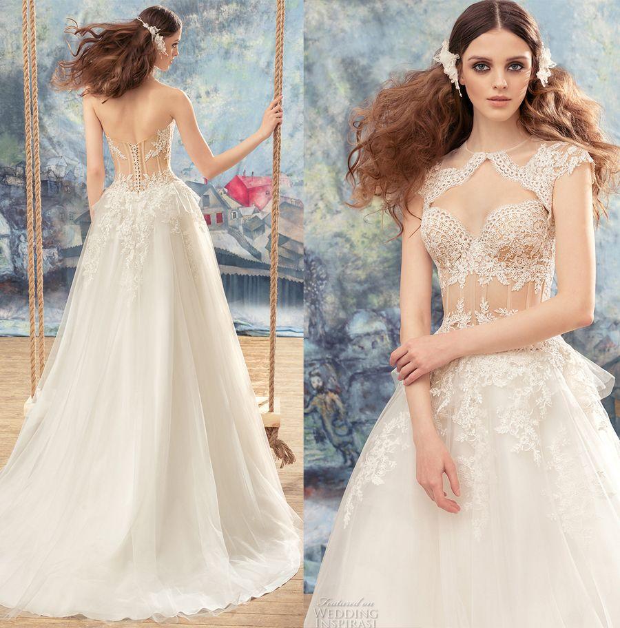 Cheap Plus Size Wedding Dress 2017 Beaded Strapless Bodice: Discount Bustier Sexy A Line Wedding Dresses 2017 Papilio