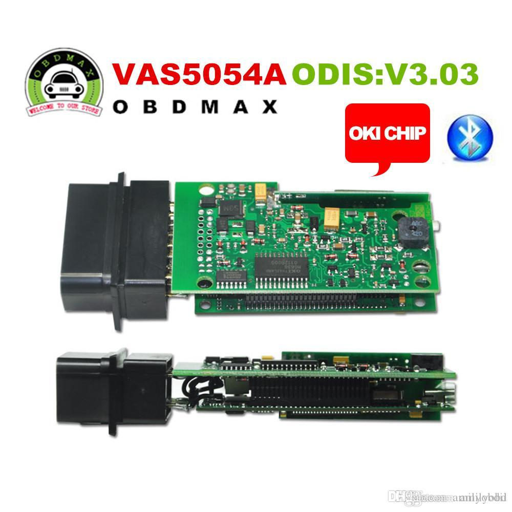 High quality vas5054a odis 3 03 with oki vw aud seat skoda vas 5054a full chip with bluetooth support uds protocol cheap diagnostic tests for cars check