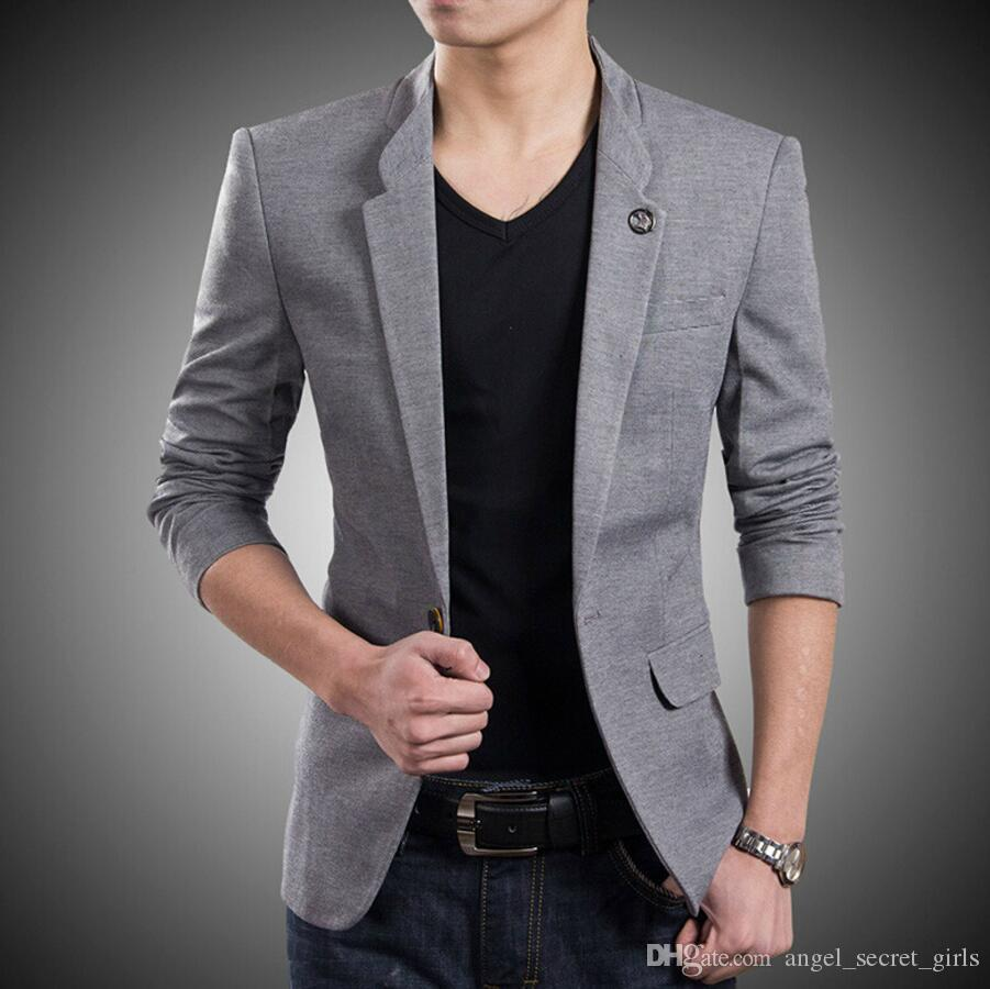 Blazer New Style Custom One Button Suit Jacket Korean Style High ...