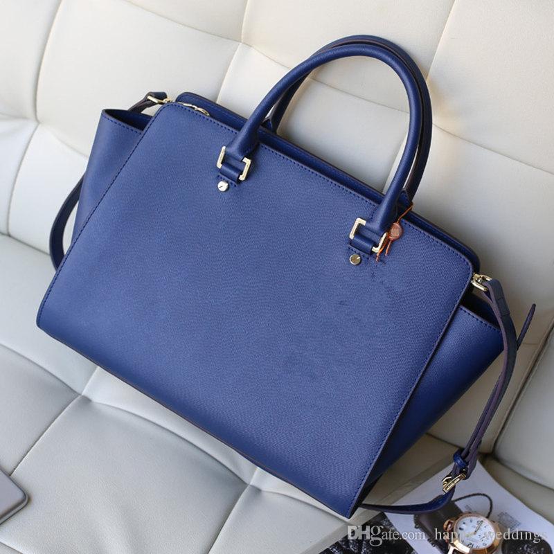 Usa Sema Saffiano Large Satchel Women Leather Handbags Genuine ...