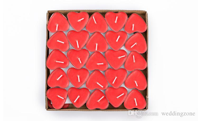 Heart-shaped Ghee Candle 2 Hours butter Candles Tea Light Candles Non-Smoking Votive Candle