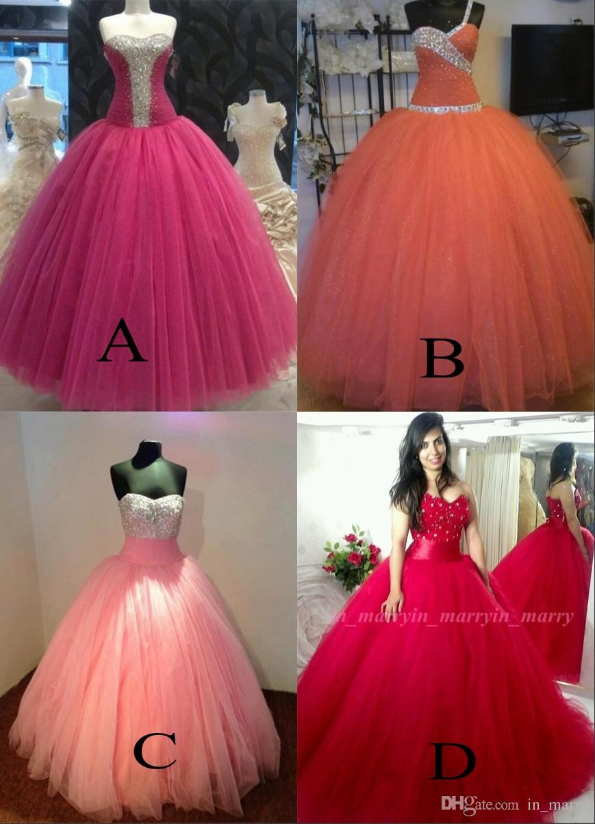 Luxury Mexico Ball Gown Quinceanera Dresses 2017 Crystal Sweetheart ...