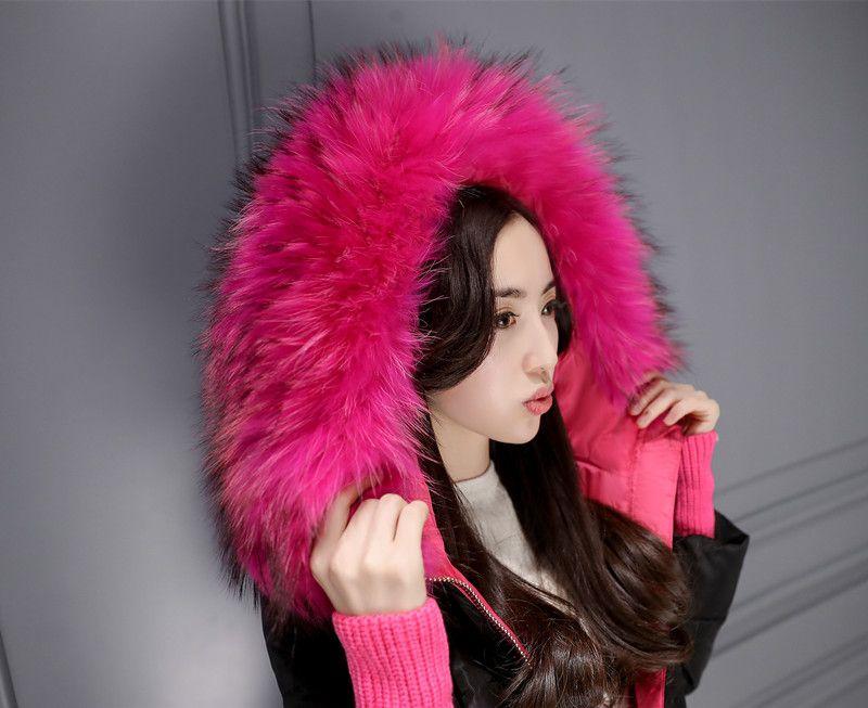Female Down Parkas Snow Coats Winter Fashion Jackets Hooded Real Raccoon Fur Collar Warm Outwear Windbreaker Outdoor Overcoat Tops 5XL