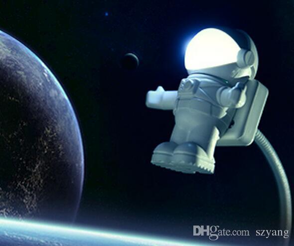 Мода прохладный новый астронавт космонавт USB LED регулируемый ночник для компьютера ПК лампа Настольная лампа чистый белый