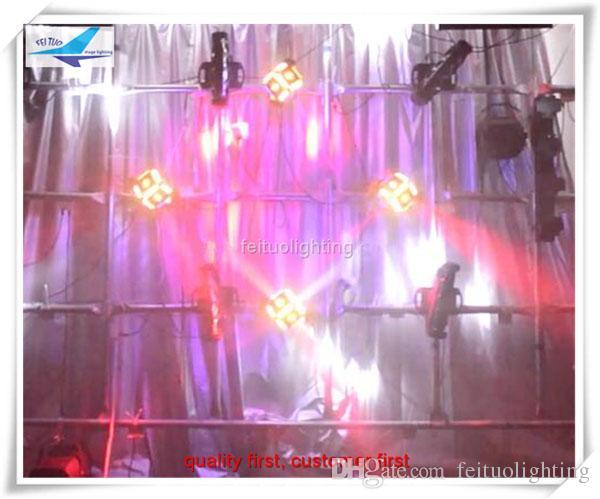 geführtes Würfelstadium, das beweglichen Kopf des Würfels RGBW des Waschstrahls 6 * 12W für DJ-Parteidisco-Hochzeitsbühnenlicht beleuchtet