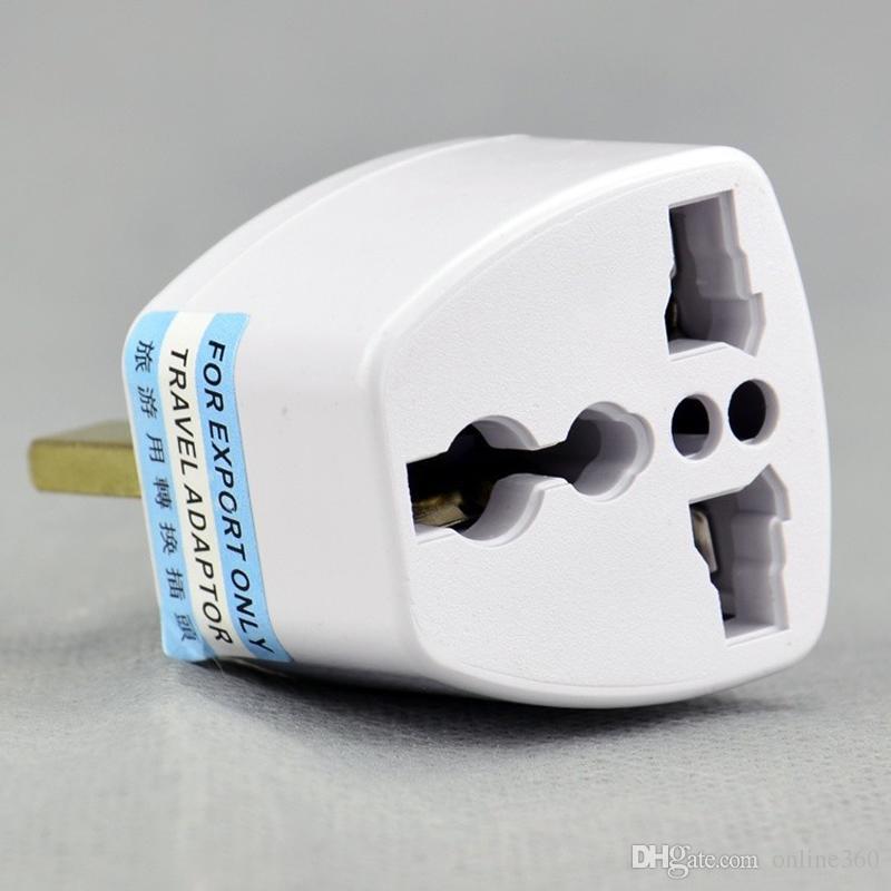 Adaptador Universal de Viagem UE EUA AU para REINO UNIDO AC Travel Power Plug Carregador Adaptador Conversor 250 V 10A Conversor Tomada Branco