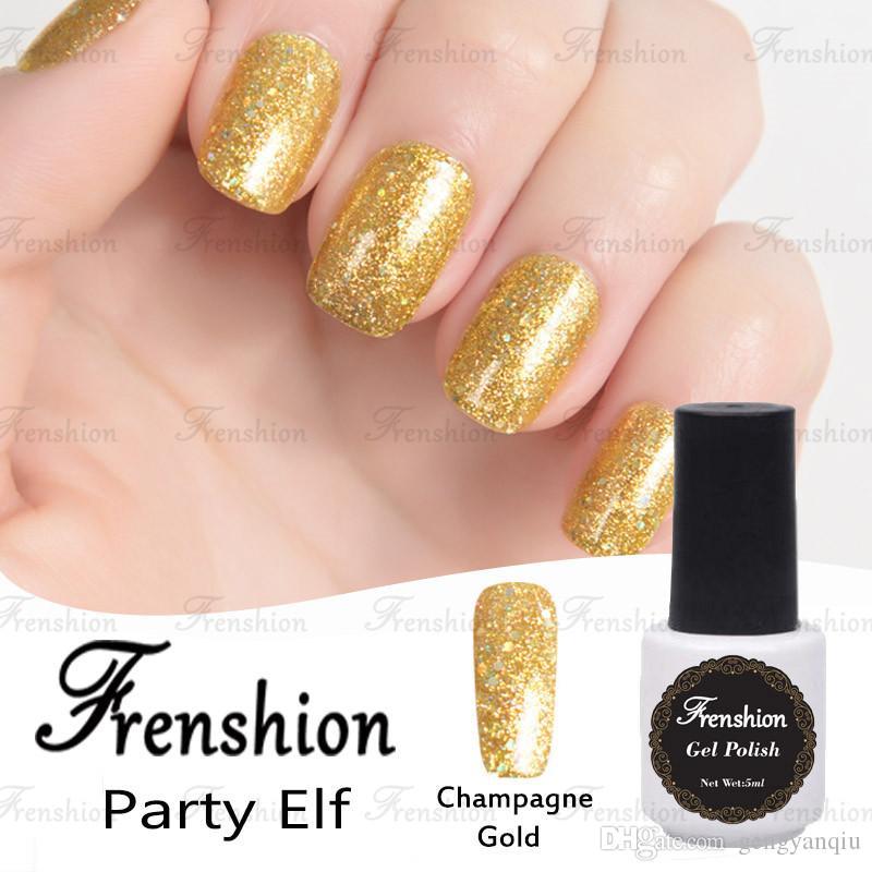 Frenshion Wholesal Nail Polish Korea Bling Champagne Gold Glitter ...