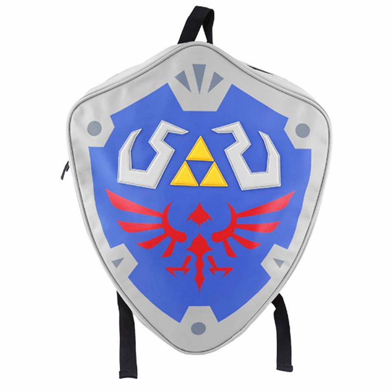 6020588dcb Wholesale High Quality The Legend Of Zeld Cosplay Backpacks Zelda Link  Shield Backpack PU Bag In Tag Christmas Gift Cosplay Bags Daypack Swissgear  Backpack ...