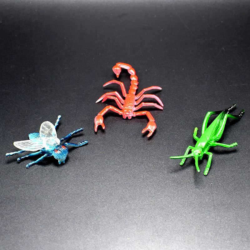 600 pz / lotto 12 tipi di simulazione PVC libellula ragni mantis Scorpion scolopendra modello di insetti giocattolo collezione di animali modelli action figure
