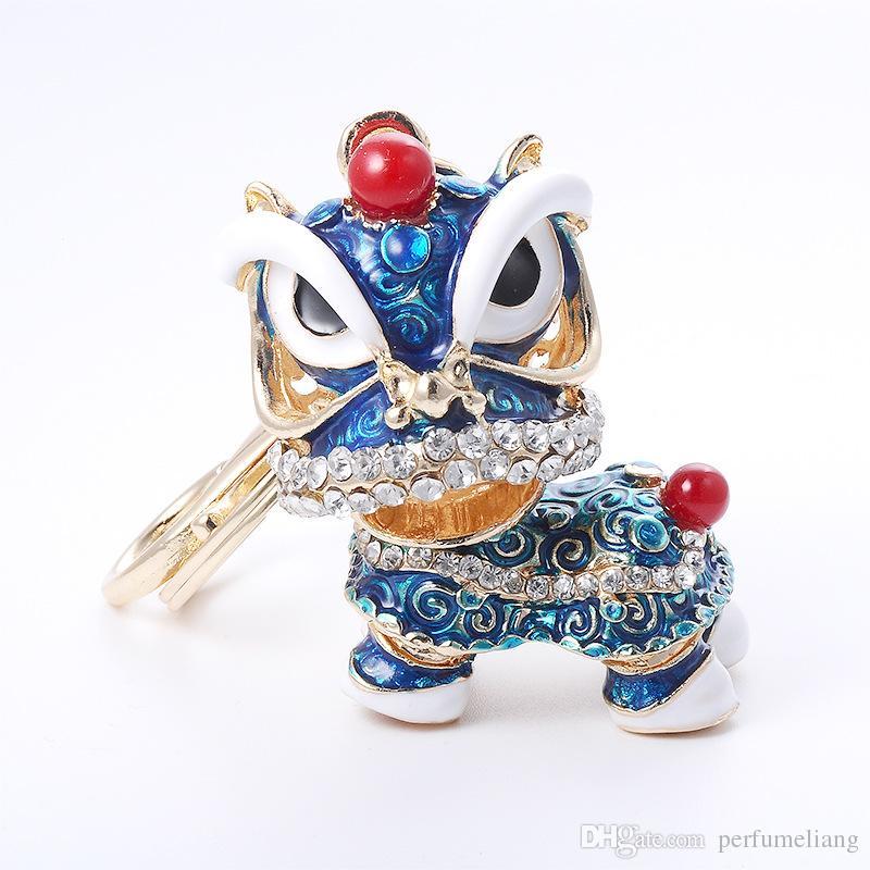 شحن مجاني خاص الصينية الشعبية التميمة الأسد الرقص الإبداعي المينا أقراط معدنية هدية للمرأة بنات التميمة مجوهرات ZA2943