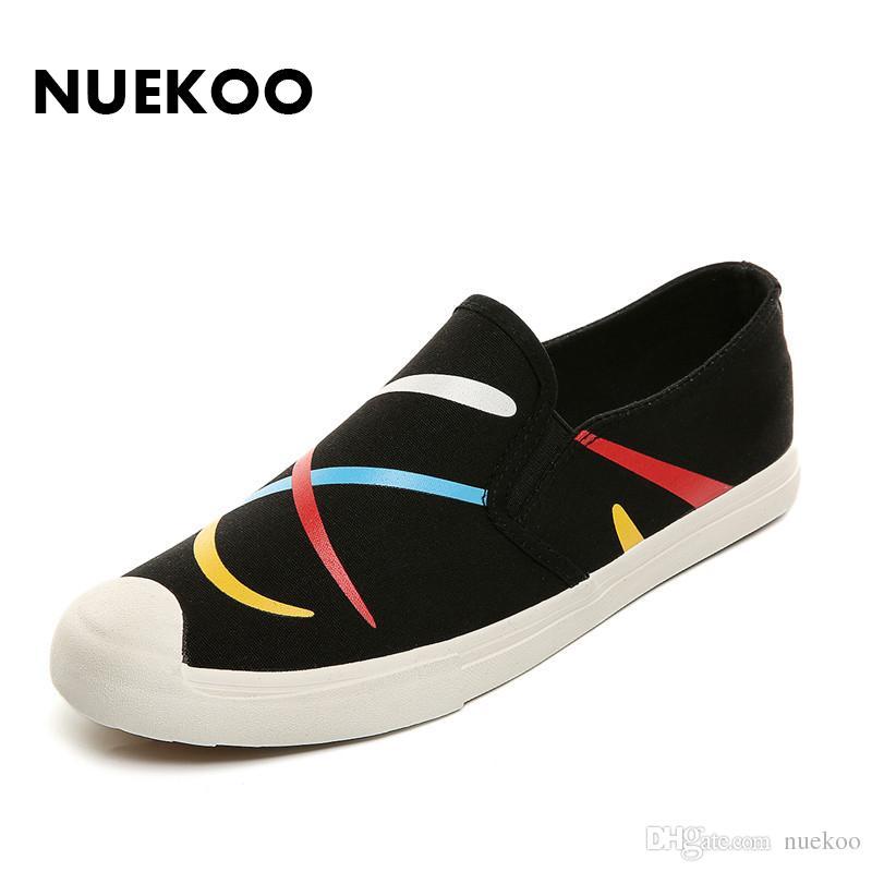 Acheter Hot Graffiti Canvas Shoes Shoes Shoes Noir / Bleu Chaussures 1d6da4