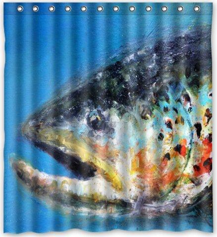 2018 66x72 Inches Rainbow Trout Skin Fishing Shower Curtain New Waterproof Polyester Fabric Bath From Littleman913 402