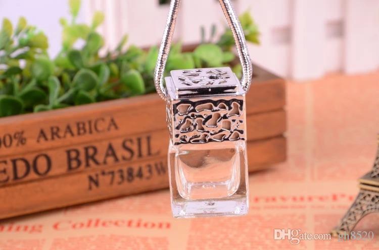 Quatuor 6ML avec couvercle / bouteille de parfum / pot / bouteille voiture pendentifs boutique voiture / bouteille vide or / argent