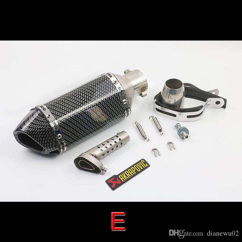 38-51mm Universal Motorcycle Exhaust Muffler Pipe Stainless Steel Exhaust Pipe System With Removable DB Killer Silencer Slip On Dirt Bike
