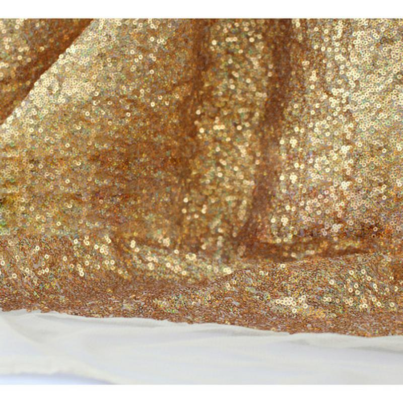 Gold Rose Sequined Table Cloth Sparkly Champagne Tablecloth Elegant Wedding Sequin Table Dress Fabrics Wedding Decorations
