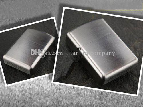 Titanium TC4 War Armor Oil Lighter Shell / Case Solid 1.7mm Thick Material Stronge Hinge Waterproof Close Joint Fuel Saving 57g with O Rings