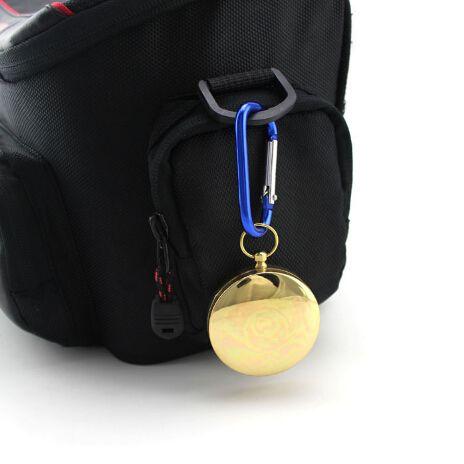 Niedrigster Preis empfindliche Messing-Taschen-im Freien kampierender Kompassgroßhandelsgoldene klassische Antike