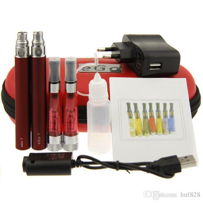 CE4+ eGo Starter Kit Zipper case eGo CE4 Plus Double Kit E-Cigarette CE4+ Atomizer eGo T Battery 650mah 900mah 1100mah