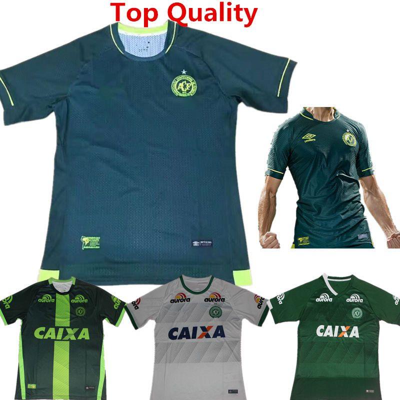 ... Soccer Jersey Chapecoense 2017 Conmebol Libertadores Champions Shirts  Gil Bruno Camiseta de Futebol Home Green Away ... 4133165e4