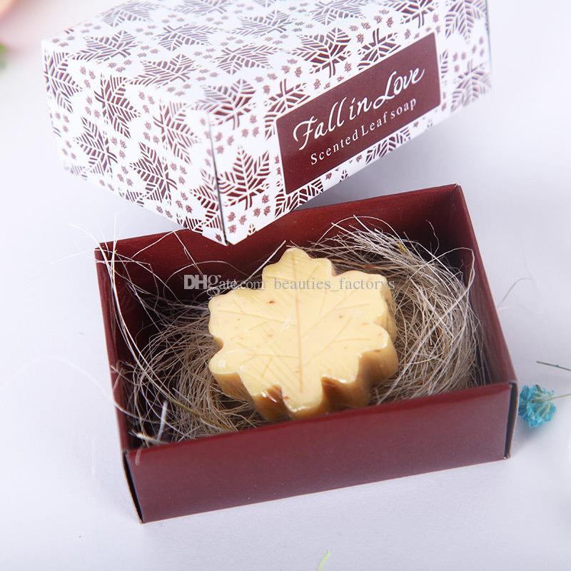 Wedding Favors Maple Leaf Soap Gift Box Cheap Practical Unique