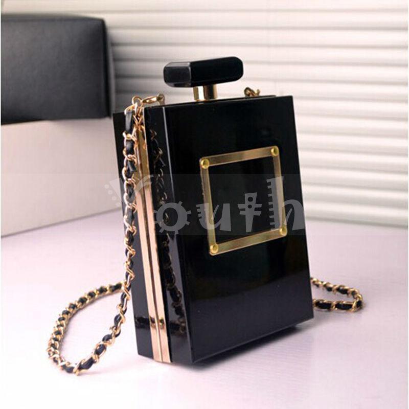 Wholesale Famous Brand Evening Handbag Acrylic Clutch Purse Bag Perfume Acrylic Bags Premium Bottle Messenger Shoulder Bag - DT019
