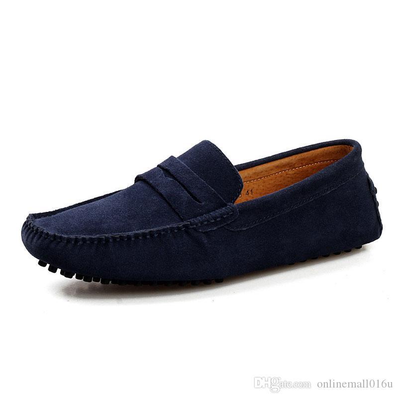859f8d7a Compre 2019 Hombres Zapatos De Cuero Casual Hombre Mocasines Pisos Zapatos  Slip On Mocasines Hombres Mocasines De Cuero De Gamuza Zapatos Masculinos  Más ...