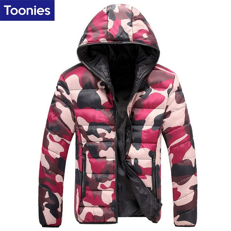 magasin d'usine 07981 e97b2 Wholesale- Winter Down Jacket Parka Men Camouflage Doudoune Homme Hiver  Marque Fashion Coat Homme Brand Clothing Abrigos Hombres Invierno