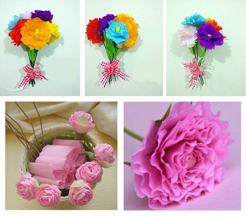 250 * 50 cm / Rulo DIY Çiçek / Hediye Dekorasyon Sarma Ambalaj Krep Kağıtları El Yapımı Malzemeler Buruşuk Kağıt ZA3952