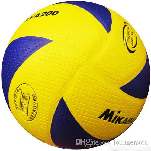 Volleyballs MIKASA MVA200 Soft Touch Volleyball Seamless PU Official Match Balls For School Student Training Special Hot Sale 30 4sb F