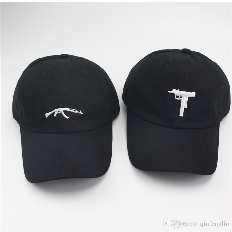 4a4c7249d8e UZI Gun Baseball Caps Ak47 Snapback Hip Hop Dad Hat Cap Women Men Brand  Sports Bones High Sun Snapback UK 2019 From Yurui2015