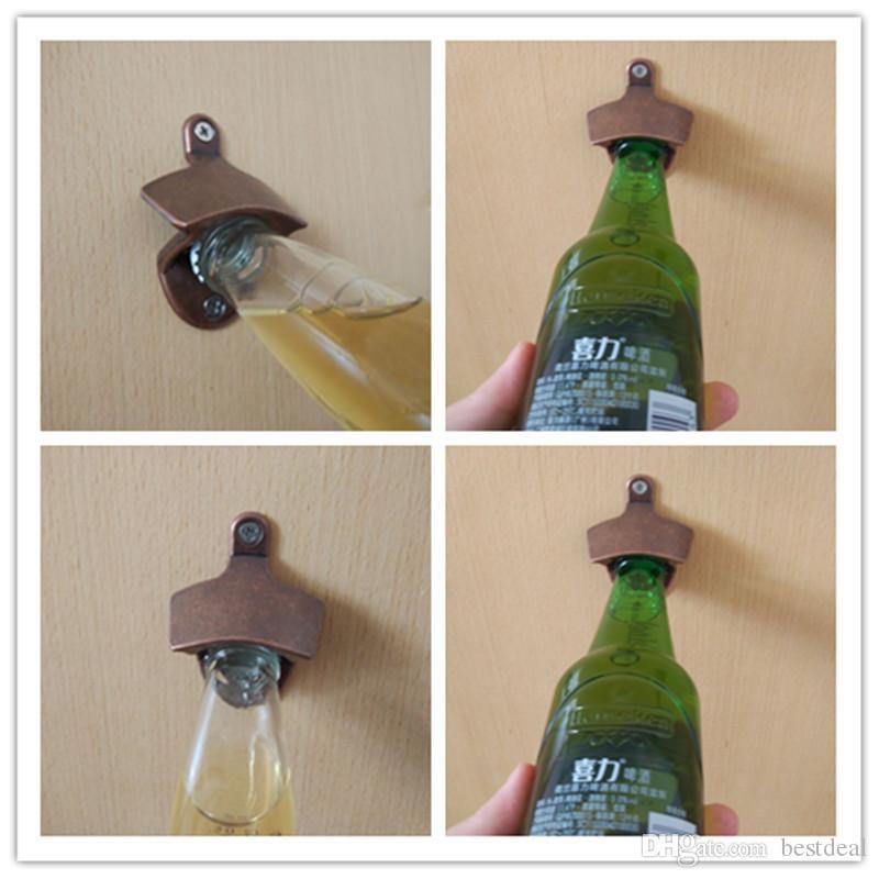LJ-119 Stop Cynkowy Chic Vintage Antyczne Żelazo Ścienne Bar Piwo Szklana Butelka Otwieracz Narzędzia Kuchenne Otwieracze do butelek Otwieracz do piwa W śrub
