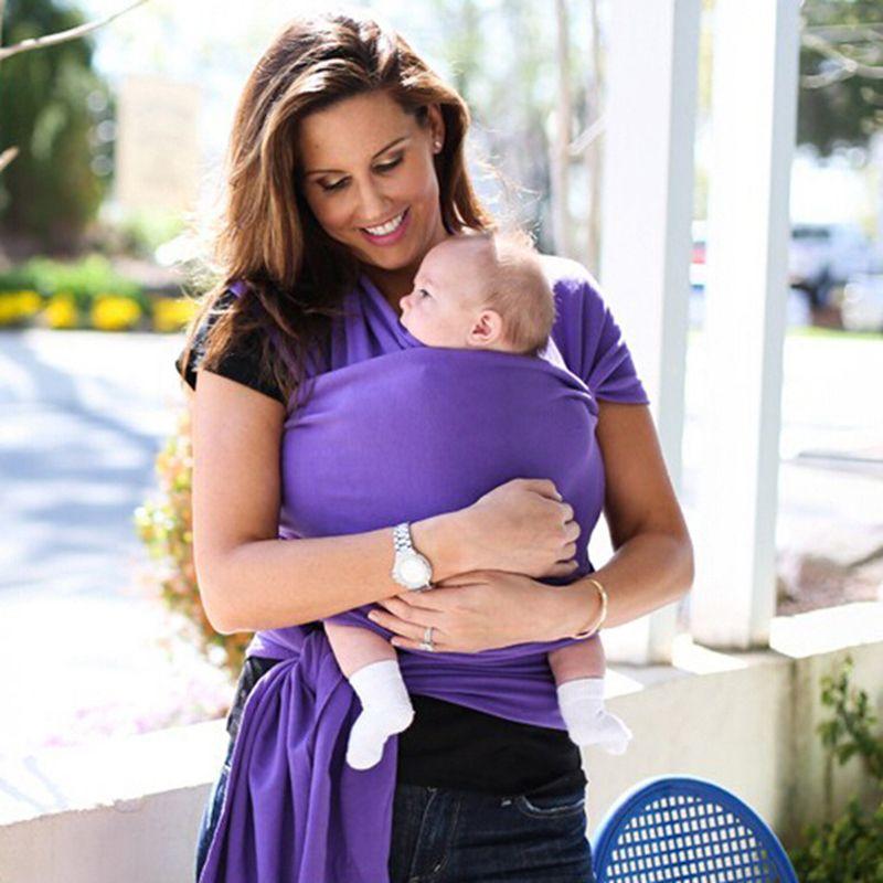 DHL Envío Rápido 6 de algodón de color sólido portadores de bebé Lactancia Materna Sling Baby Bebé Elástico Mochila Bolsa Mochila niños lactancia hipseat