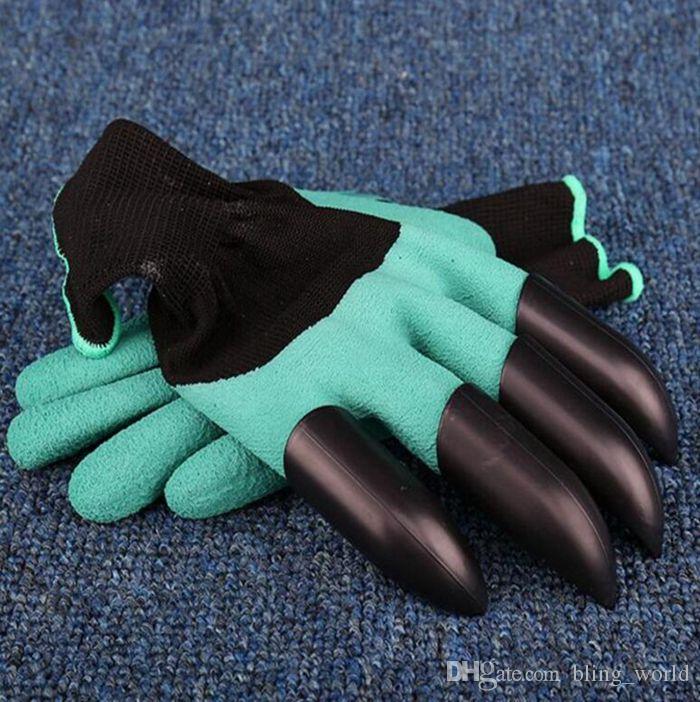 Jardim Genie Luvas Com 4 Garras Unisex Corte Resistente Escavação Luvas de Plantio Sem Desgastado Luvas Fingertips Mittens Mão Esquerda DHG14