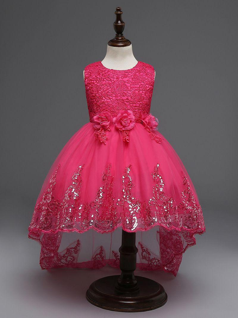 Kids gown party Dresses For Girls 2017 Little Bridesmaid Lace Christening Tutu Dress Ceremonies Children Kids Clothing Floor-Length skirts