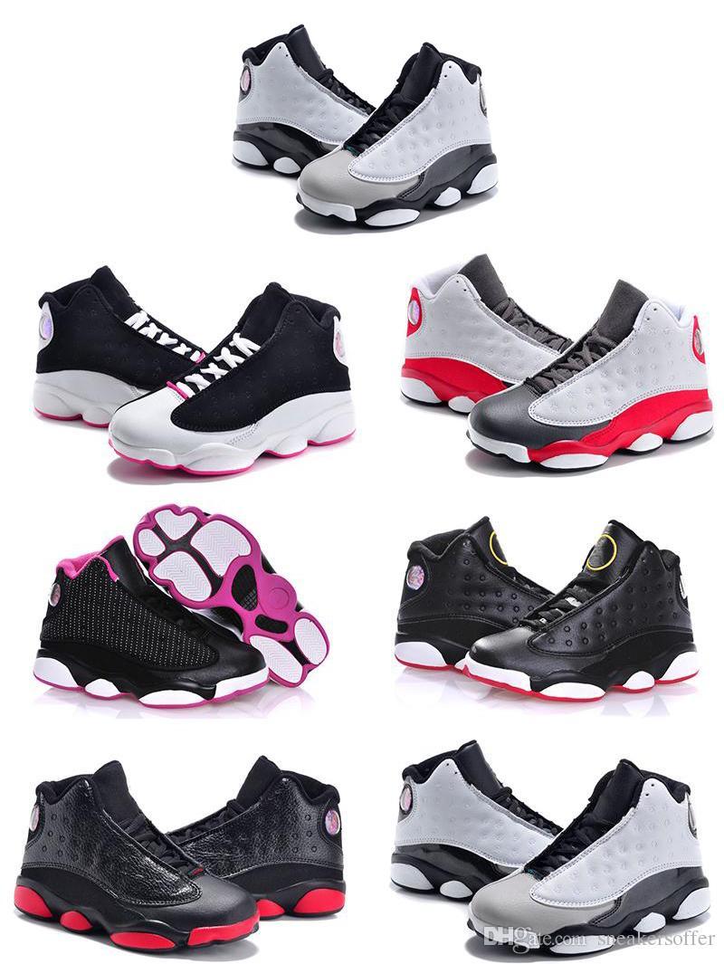 9e309cd450 Compre Venda Online Barato Novo 13 Crianças Tênis De Basquete Para Meninos  Meninas Tênis Infantil Do Bebê 13 S Sapato Tamanho 11C 3Y De Sneakersoffer