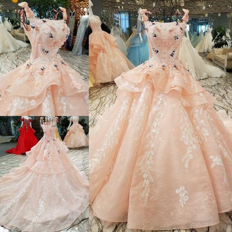 Ls00412 1 Designer Evening Party Gown Dress Manufacturer Luxury Pink ...