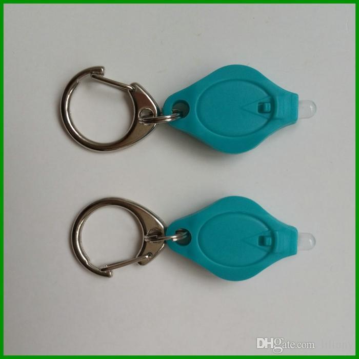 Mini lampe torche à led Super Keychain Lampe torche à LED Petite chaîne porte-clés avec lampe LED blanche de 5mm