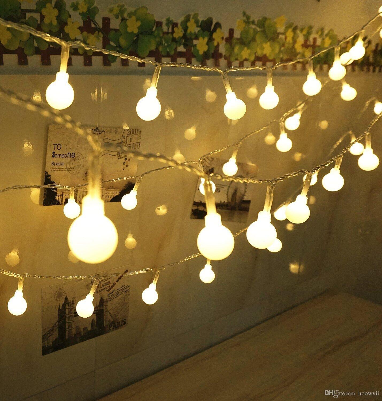 ball fairy lights. cheap globe string lights,hoowvii 33ft/10m waterproof ip67 100 led ball fairy lights battery operatea festive starry light n