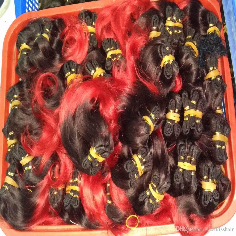 L'estensione brasiliana di vendita calda dei capelli umani / fasci tesse la nuova vendita all'ingrosso DHgate