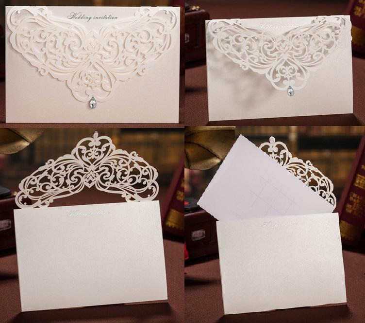 Wholesale Personalized Wedding Invitation Cards Red white wed cards Thank You cards modern designs card DHL on hot sale