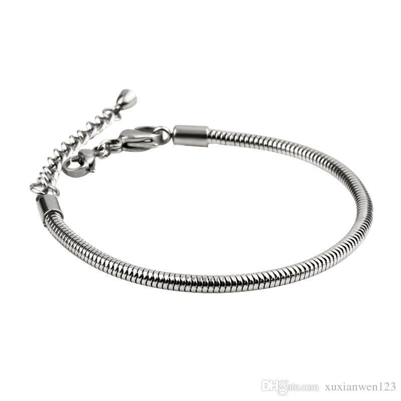 2019 Soild 925 sterling silver hand chain stamp original logo charm heart CZ beads fit DIY bracelets for women pulsera jewelry