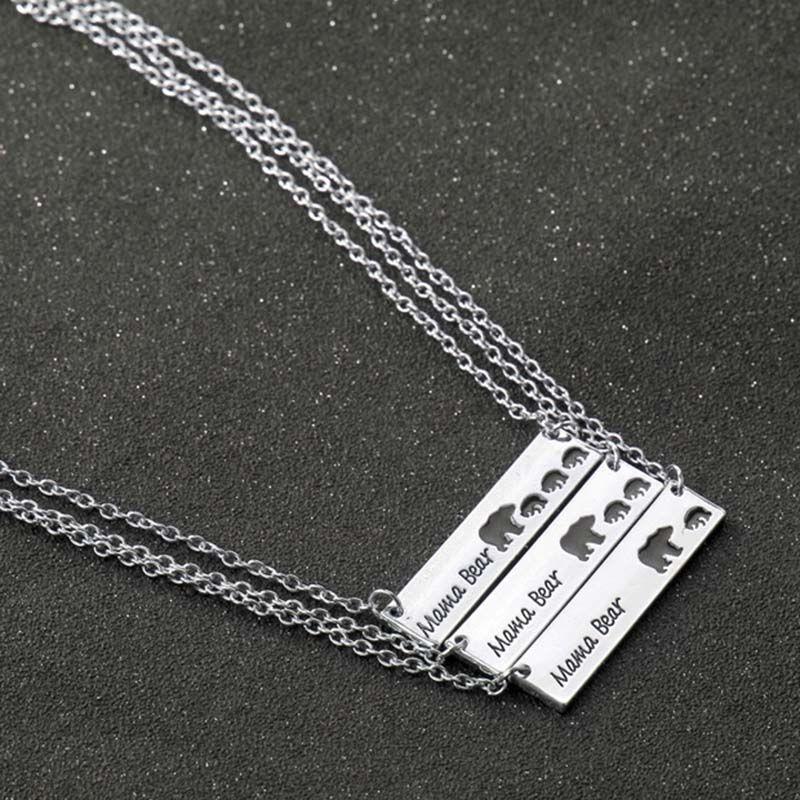 Collana di mamma orso, regalo festa della mamma, regalo di acquazzone di alta qualità Gioielli di marca all'ingrosso gioielli animali 161902